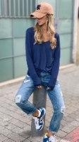 טי יוזד כחול ג'ינס