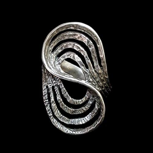 טבעת כסף מעוצבת RG7037 | תכשיטי כסף 925 | טבעות כסף