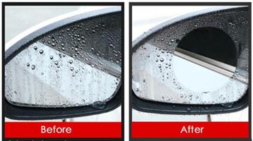 סט מדבקות ננו אנטי גשם למראות הרכב