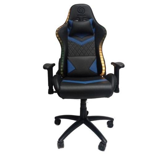כיסא גיימינג נפטון - Neptune - מעוצב עם ידיות מתכווננות כולל תאורת LED RGB נשלטת על ידי שלט צבעים