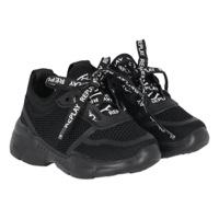 REPLAY נעל ספורט אלגנט שחורה לוגו לבן מידות 21-39
