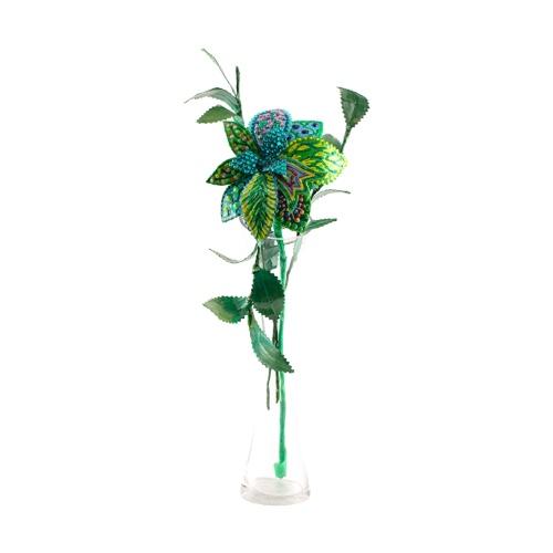 פרח ירוק באגרטל