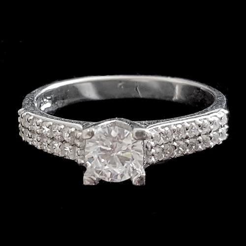 טבעת כסף משובצת זרקונים RG1467 | תכשיטי כסף | טבעות כסף