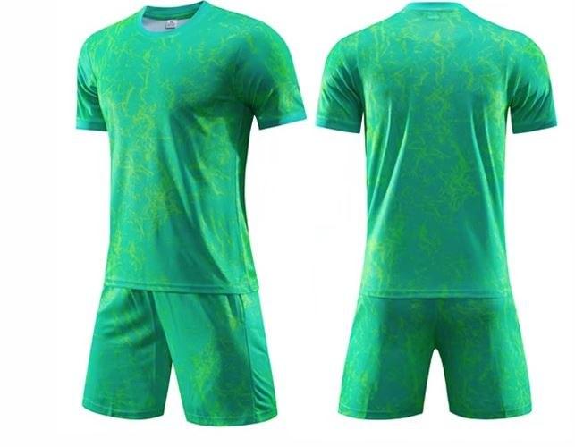 חליפת כדורגל צבע ירוק (לוגו+ספונסר שלכם)