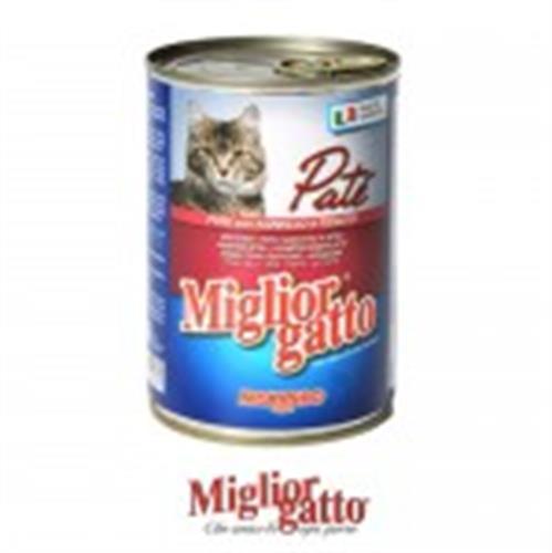 שימורים לחתול מיגליאור פטה כבש וכבד 410 גרם בקופסה