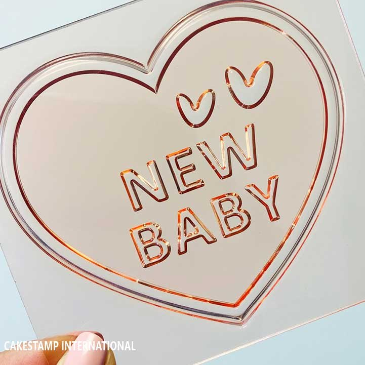 NEW BABY - New Stamp And Mold For Fondant And Chocolate | Baby Embosser Stamp