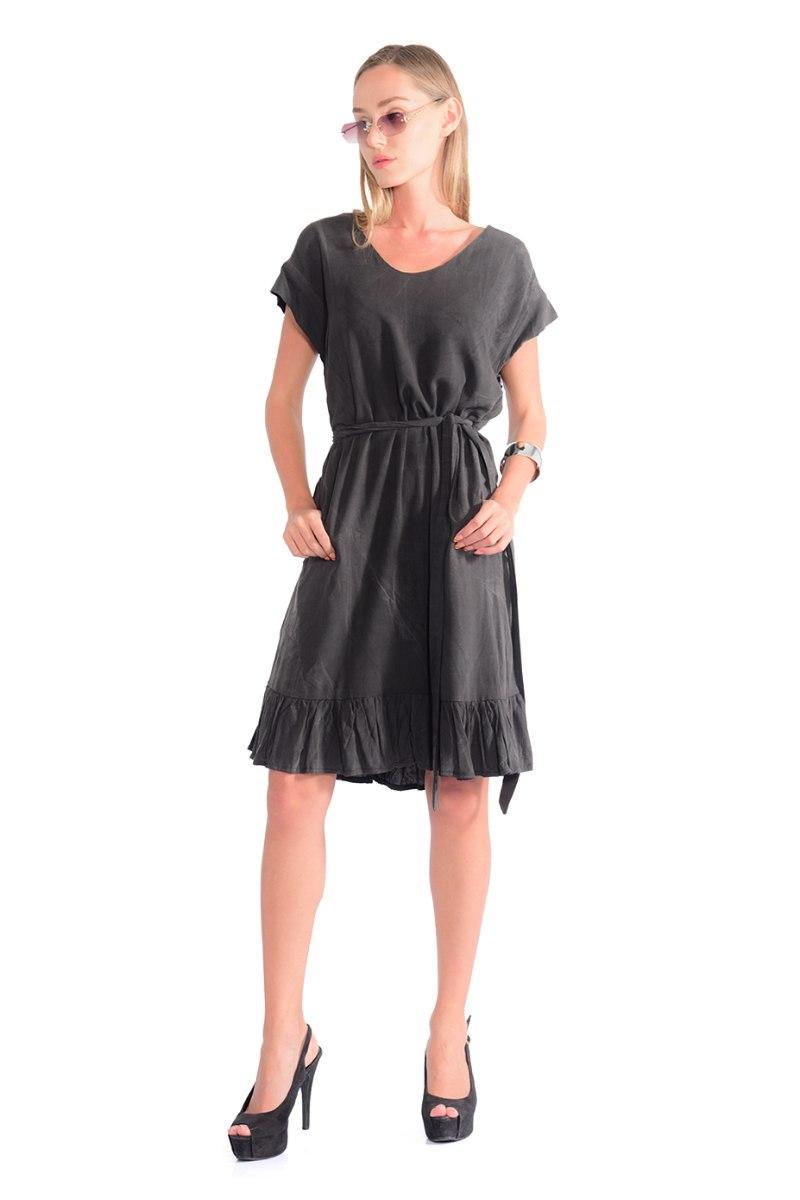 שמלה סאמי אפור כהה