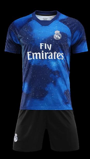 תלבושת דמוי ריאל מדריד כחול ים
