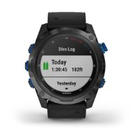 שעון דופק לצלילה Garmin Descent MK2I Titanium Carbon Grey With Black Band