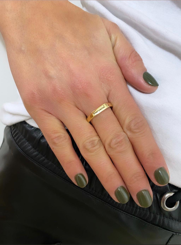 טבעת מלבן חותם