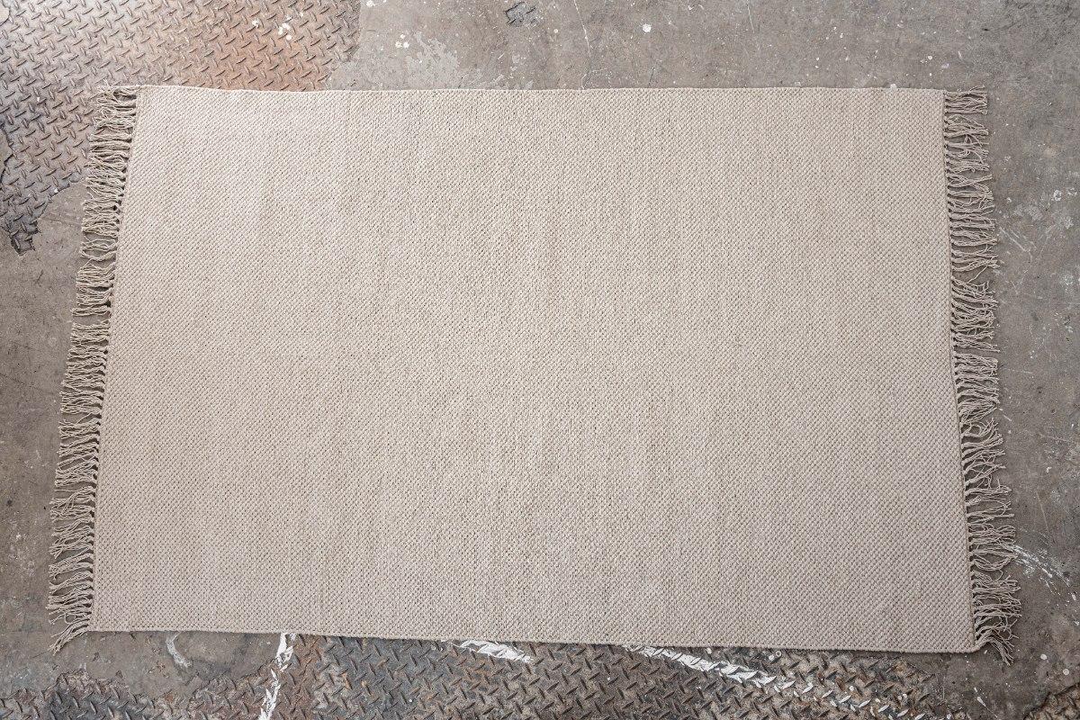 שטיח כותנה אריגה שטוחה - אבן מוקה
