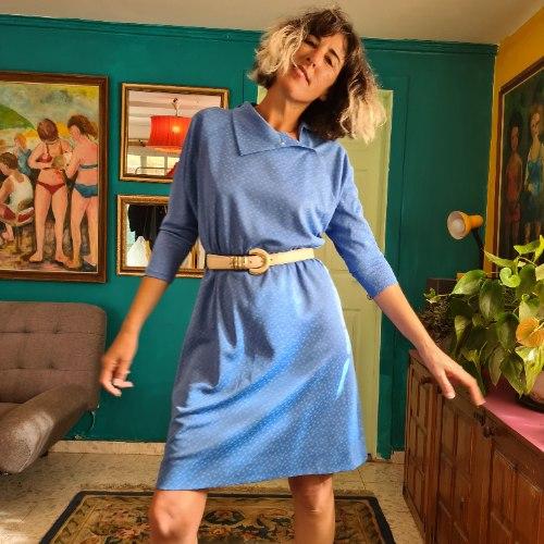 שמלת תכלת מתוקה לאללה L/XL