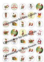 Merry Christmas for 4 cm stencil mat Transfer sheet