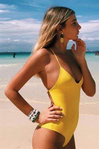 בגד ים שלם - מיאמי צהוב