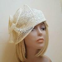 כובע מעוצב אלגנטי/ לבן