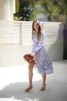 שמלה נקודות סגול לילך