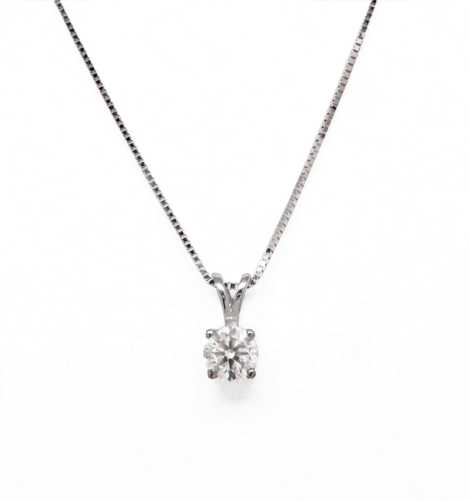 שרשרת ותליון יהלום שרשרת יהלום 0.30 קראט | תליון יהלום בודד  בזהב