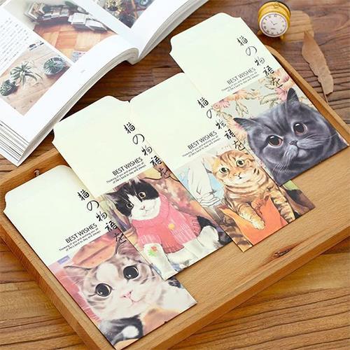 מעטפות נייר חתולים