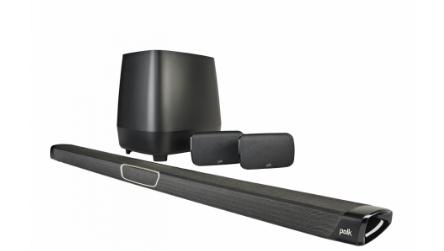 """מקרן קול דגם Polk Audio Magnifi Max SR משולב סאבוופר אלחוטי - צבע שחור שנה אחריות ע""""י היבואן הרשמי"""
