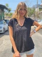 חולצת אמילי שחור THOMAS