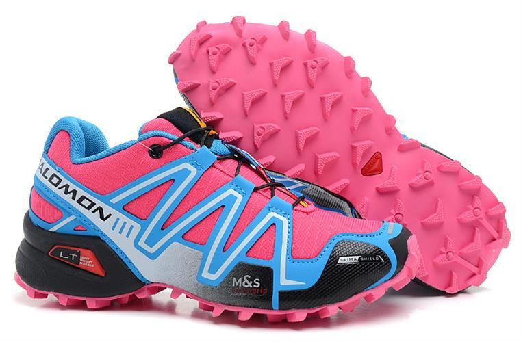 נעלי ריצה Salomon Speed Cross III לנשים ורוד תכלת מידות 36-41