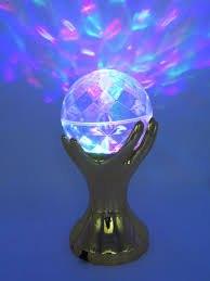 מנורת דיסקו מסתובבת בכפות ידיים