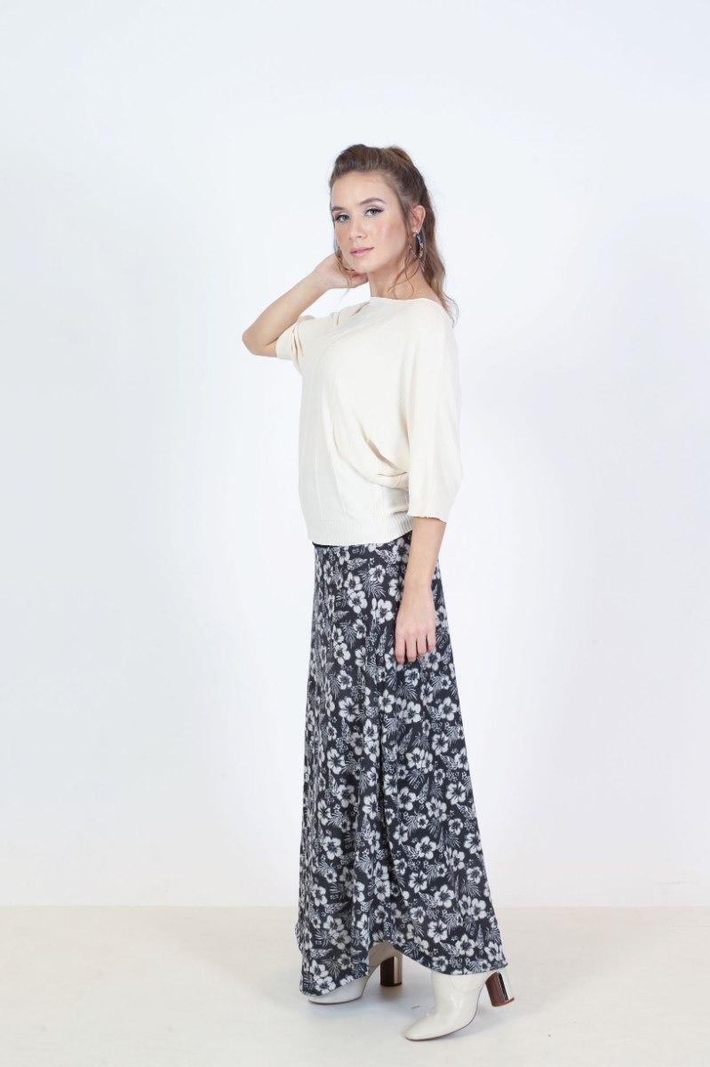 חצאית אביב פליז מקסי