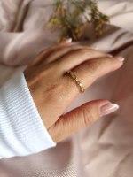 טבעת זהב יסמין