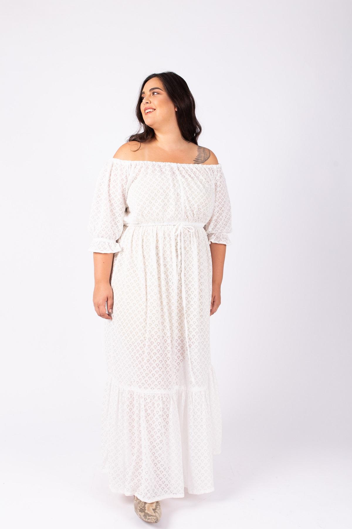 שמלת ג'יזל לבנה