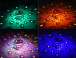 מצוף תאורת לד צבעונית לבריכה