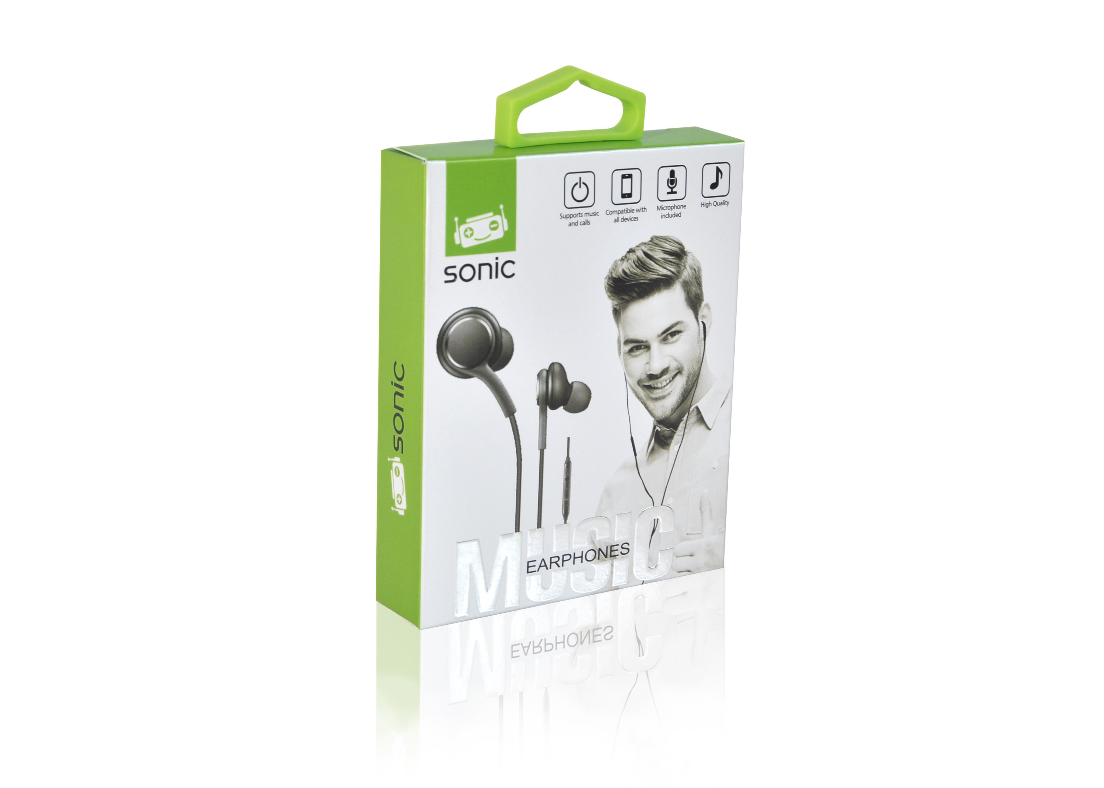 אוזניות SONIC Silicon edition חוט של חברת SONIC עם מנגנון שליטה