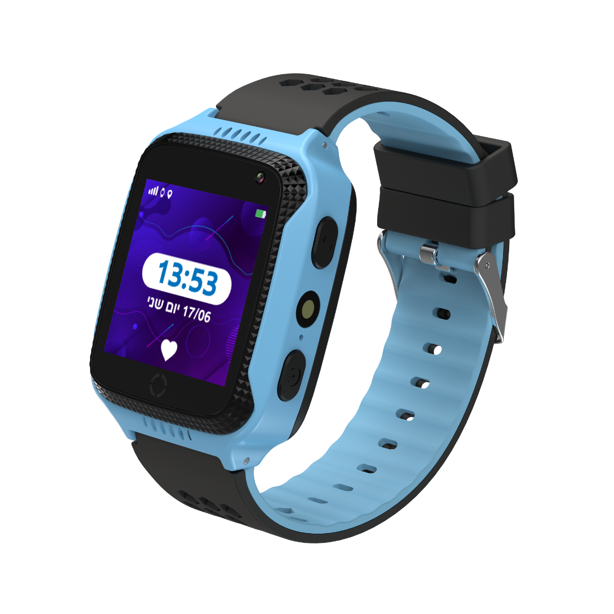 שעון GPS לילדים KidiWatch SAFE - השעון החכם ששומר על הילדים - תכלת!