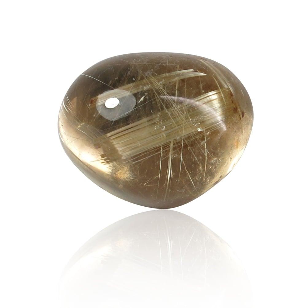 טבעת זהב 14Kמשובצת אבן חן רוטילייטד קוורץ