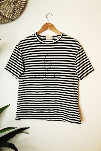 חולצת פו פסים שחור
