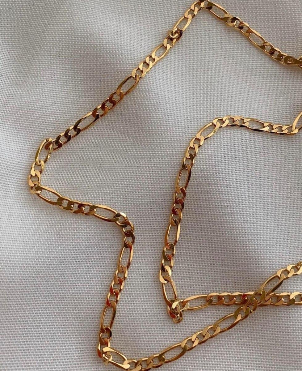 שרשרת גורמט פיגרו זהב קצרה S