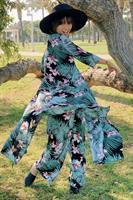 שמלה/קימונו עלים טרופי