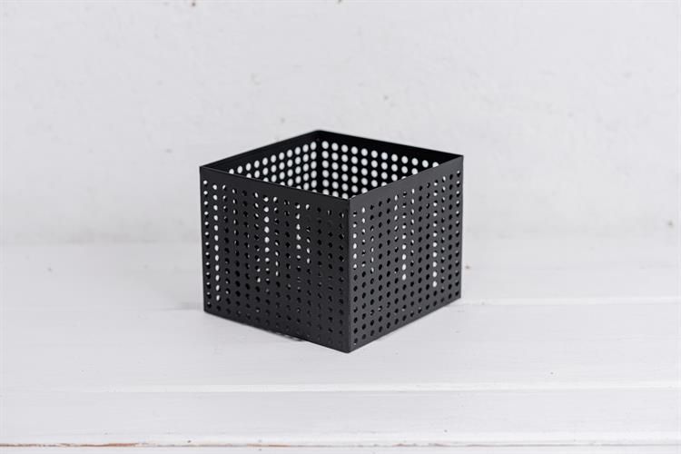 קופסה פתוחה / כלי ממתכת מרובע - שחור L