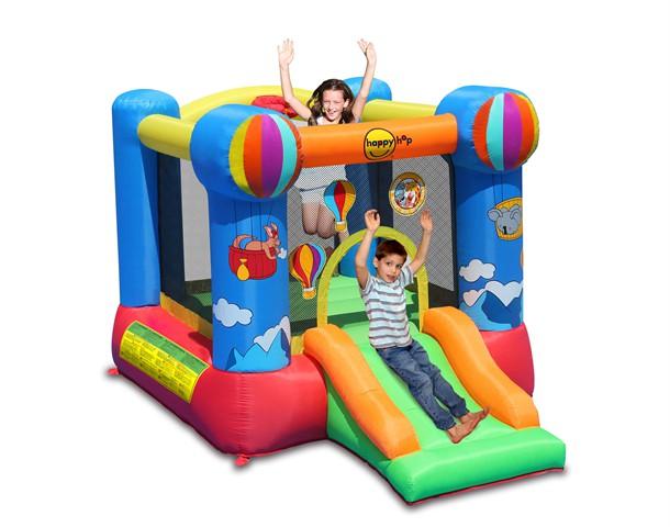 מתקן קפיצה כדור פורח עם מגלשה הפי הופ - 9070N - Hot Air Balloon Slide And Hoop Bouncer Happy Hop