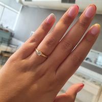 טבעת יהלום קלאסית 0.60 קראט |טבעת יהלום זהב צהוב 14 קרט|תעודה IGL