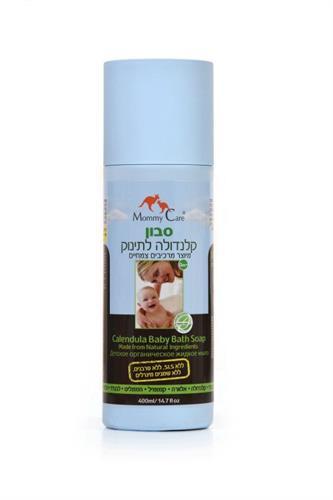 סבון קלנדולה לתינוק מרכיבים צמחיים מאמי קר Mommy Care