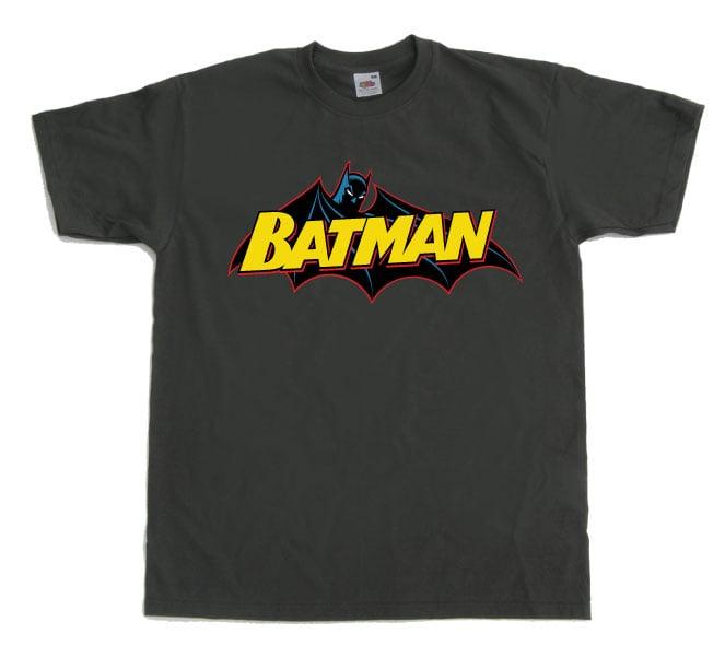 לוגו באטמן קומיקס - אפור
