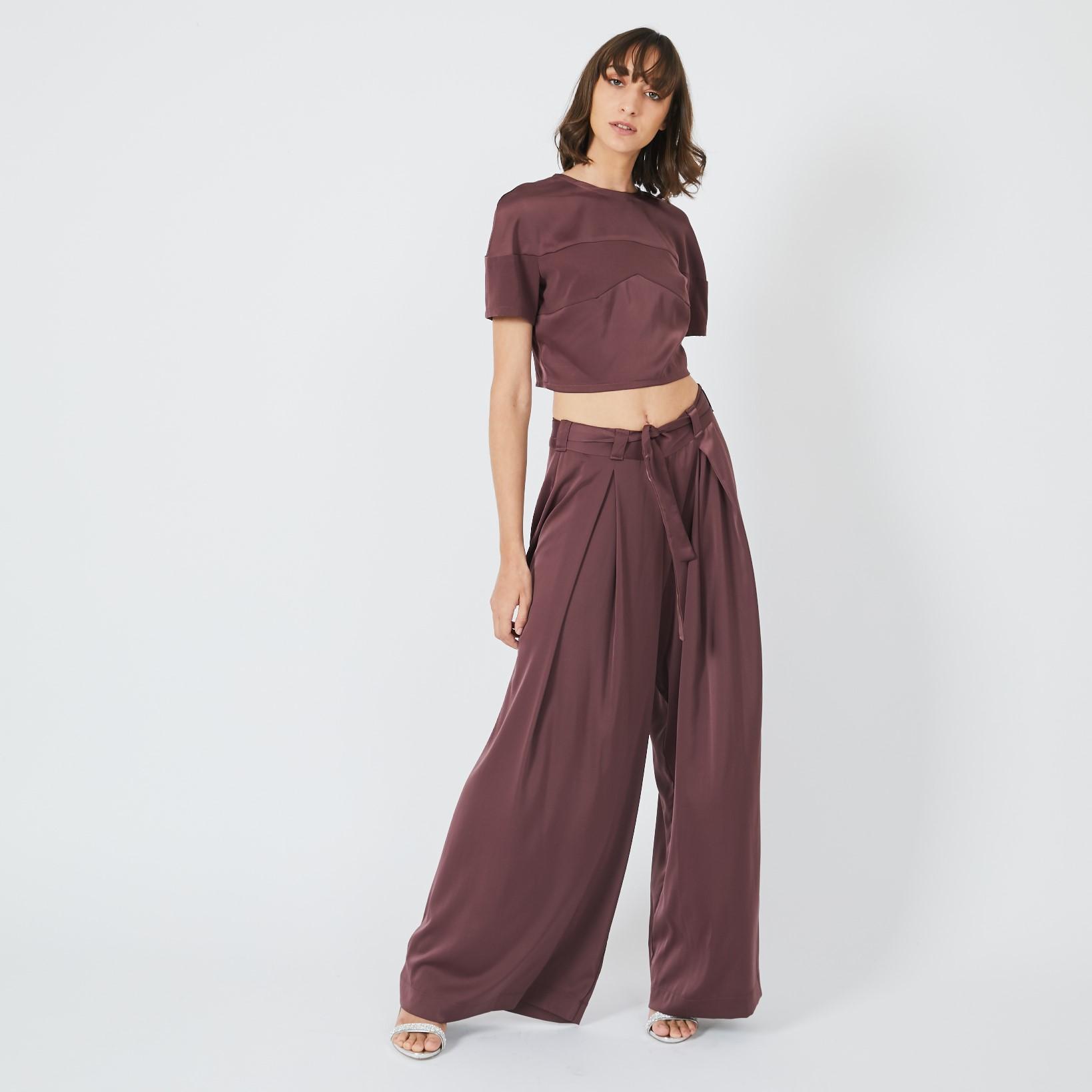 מכנס סטאי ארוך סגול שזיף