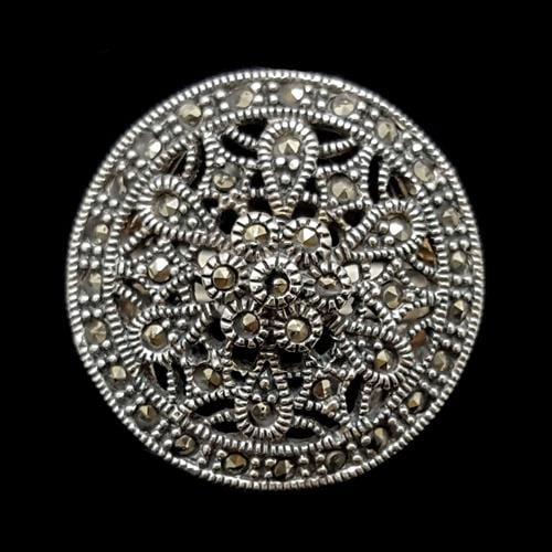 טבעת כסף משובצת מרקזטים RG1500 | תכשיטי כסף 925 | טבעות כסף