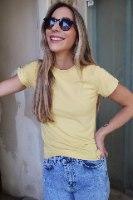 חולצת פרש צהובה