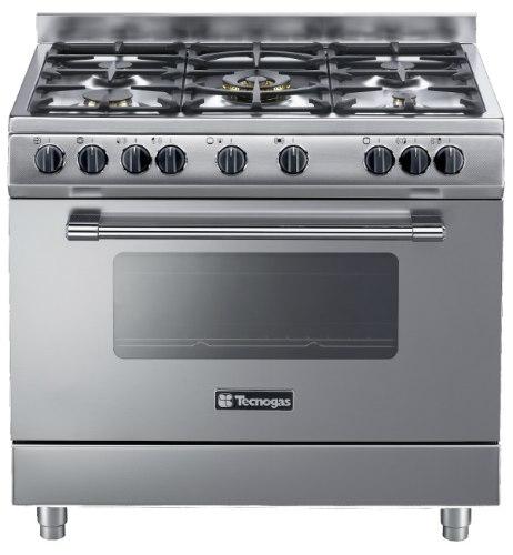 """תנור בישול ואפייה משולב גז 90 ס""""מ טכנוגז נירוסטה אנטי סקראץ TECNOGAS PP3X96E5VC"""