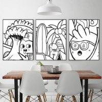 סט תמונות שחור לבן לפינת אוכל של האמן כפיר תג'ר