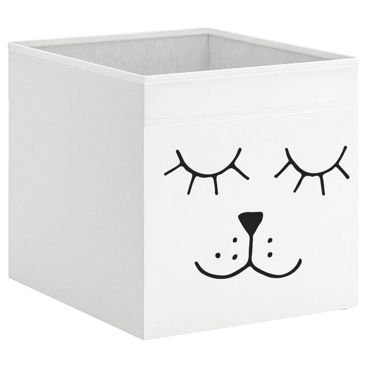 קופסת אחסון לכוורת עם הדפס- פנים של אריה