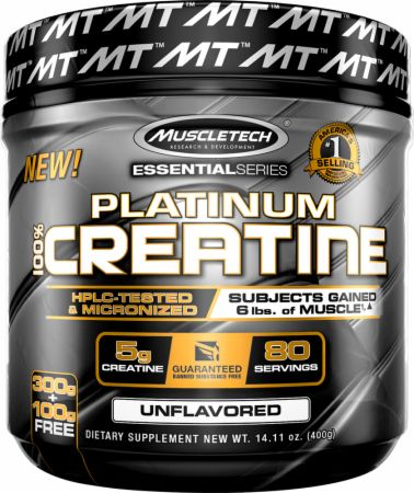 קריאטין פלטינום מאסלטק | PLATINUM CREATINE MUSCLETECH 400 גרם