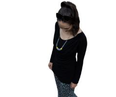 חולצת הנקה שירה שחור - מבית Imahot