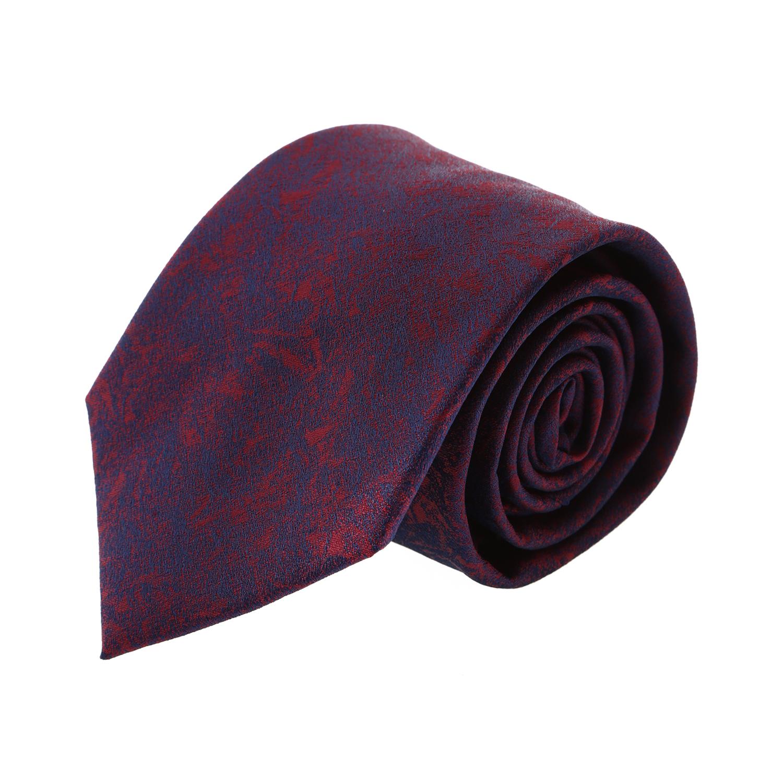 עניבה קלאסית מארבל כחול אדום